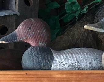 Vintage Victor Duck Decoy / Glass Eyes