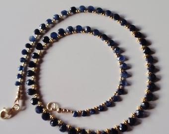 Sapphire Necklace  5-6mm riol(JK 643k)