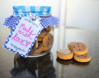 Dante's Homemade Bite-Sized Cookies /Healthy Dog Treats /Dog Birthday /Dog Gift /Organic Dog Treats /Dog Cookies /Dog Bakery Pet Food
