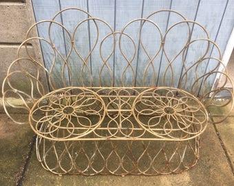 Ornate Metal Love Seat