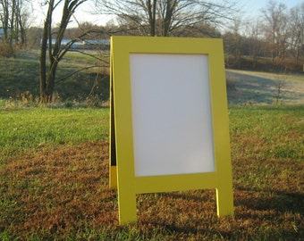 Dry erase sidewalk sign, sandwich dry erase board, double sided, A frame, two sided business sign wedding sign restaurant sign