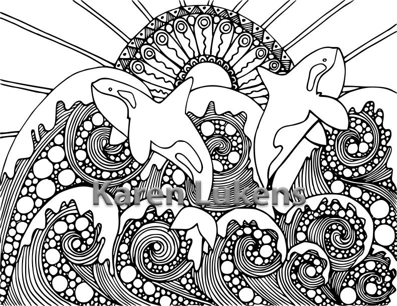 Orca coloring pages