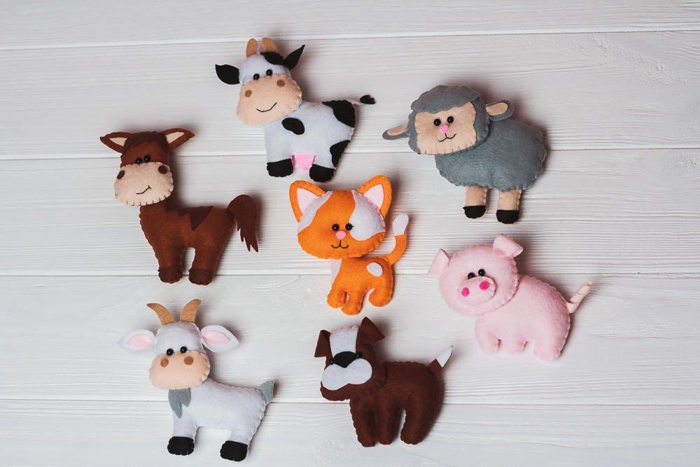 filz bauernhof tiere pferd schwein kuh hund spielzeug. Black Bedroom Furniture Sets. Home Design Ideas