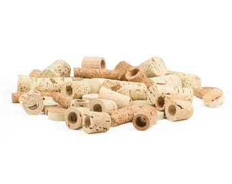 Natural Cork Grab Bag -  Assorted Shapes and Piece Sizes, Multiple Bag Sizes Available, Cork Scrap Bag, Cork Pieces