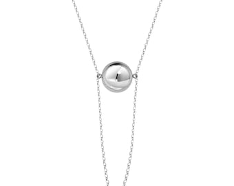 Elegant silver necklace - made sterling silver 925