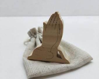 Praying hands, christian gift, religious, spiritual, wooden hands,