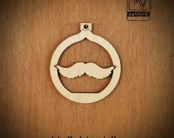 Moustache Cutout Ornament