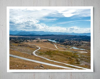 Winding Road, Landscape Photography, Archival Giclee Print, Nature Photo - Multiple Sizes Available