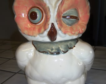 Shawnee Winking Owl Cookie Jar FREE SHIPPING