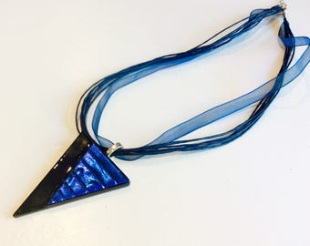 Beautifully handcrafted fused glass pendant