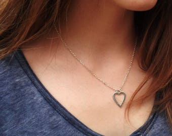 Necklace Silver 925 with a heart pendant on chain
