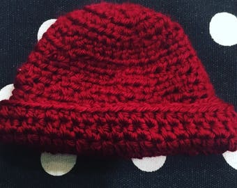 Crocheted Preemie Hat, 3-4 lb baby cap
