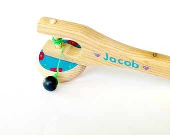Personalized wooden toy Colorful Wooden Spinning top, Woodturning, Great Hanukah gift idea Toy for all ages, Free shipping
