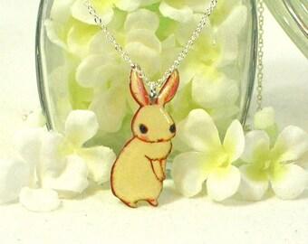 White Bunny Rabbit Necklace Blanco - Bunny Pendant - Rabbit Jewelry - Bunny Rabbit Inspired - Pet Bunny - Rabbit Pendant - Bunny Jewelry