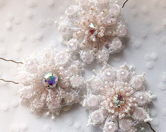 Blossom Hairpin Set of 3, Bridal Hairpins, Wedding Hairpins, Floral Hairgrips