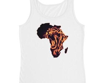Africa Lion Roaring Ladies' Tank