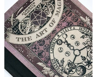 The Art of Magic A5 Hardback Notebook. Inspired by Harry Potter Magic Spell Book Journal Blank Inside Lined Paper.