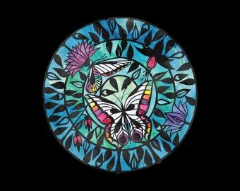 Butterflies - Papercut Illustration Art print