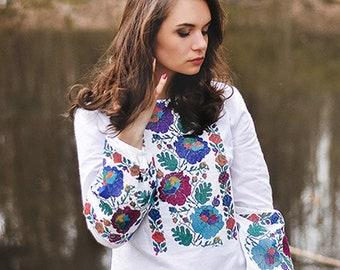 Women Embroidered Shirt.Vyshyvanka. Ukrainian Embroider Blouse. Embroider Shirt. Embroider Dress. Ukrainian Vyshyvanka