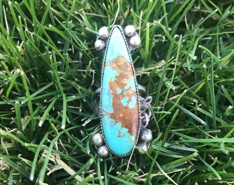 Turquoise mountain ring size 7 3/4