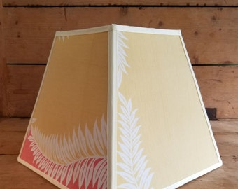 Tropical Pale Yellow and Salmon Lampshade
