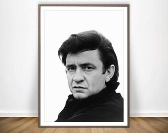 Johnny Cash Poster Print Art Rock Gift