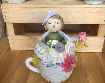 Shiny Brite Springtime Girl Assemblage