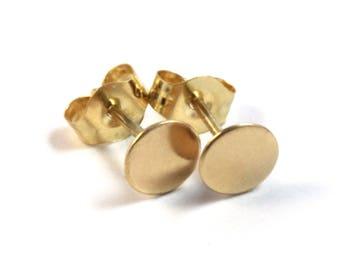 Gold Earrings, Gold Stud Earrings, 14k Gift for Her, Simple Earrings, Geometric Earrings, Minimalist Earrings, Gift for Her, Gift for Wife,