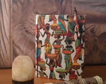 African Print Journals With Matching Pen