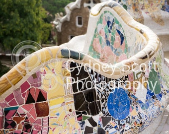Barcelona travel photo, Park Guell, Gaudi, architectural photo, travel photo, Fine Art Photography, travel photography, Gallery Prints,