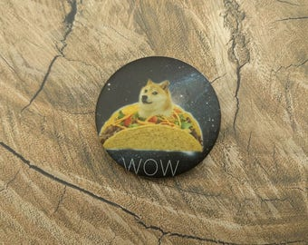 Much Taco Doge Button