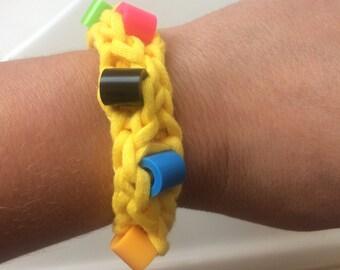Yellow Sensory Fidget Bracelet