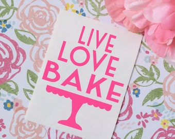Live Love Bake Vinyl Decal, Cake Decorator