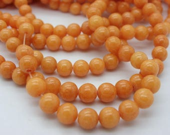 67 jade 6 mm round a beautiful jaspe round apricot orange