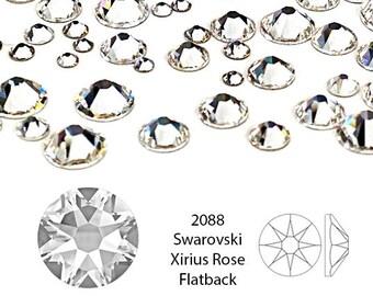 Swarovski Rhinestone crystal, Crystal Clear 2088 SS20 4.6-4.8mm, Xirius rose, 12 Pcs, foil Back - CO