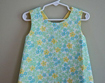 Toddler Reversible Crossback Tunic (size 12 - 24 Months) byJeanne Fabric Creations