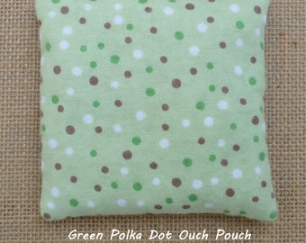 Owie Pack, Ouch Pouch, Boo Boo Bag, Polka Dots, Reusable Hot Cold Pack, Rice Bag, Kids Ice Pack, First Aid, Microwave, InHer Inner Peace