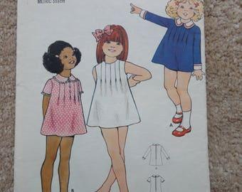 Vintage Butterick 6678 Childrens Size 4  1970's