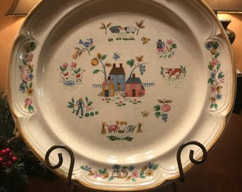 Vintage Heartland Chop Plate Stoneware by International