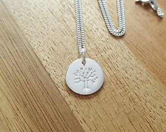 Family Tree Necklace, Sterling Silver Family Tree Necklace, Silver Family Tree Necklace, Silver Family Tree, Family Tree Charm, Tree of Life