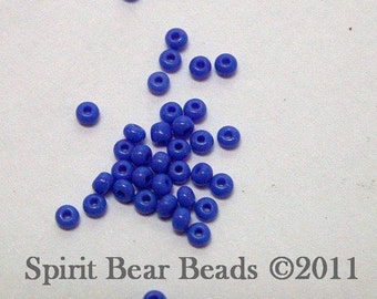 Opaque Light Blue Czech Seed Beads size 11/0 lot of 20 grams