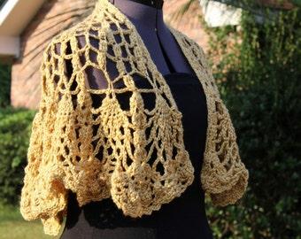 Crochet Shawl -  Women's Shawl - Teen Crochet Shawl - Crochet Cover-up M140