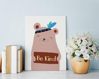 Kind Bear Digital Print Children's Art