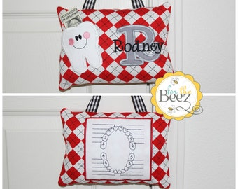 Tooth Fairy Pillow - Personalized Tooth Fairy Pillow - Boys Tooth Fairy Pillow - Tooth Fairy Pillow for Door