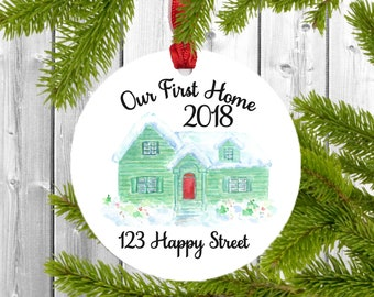Our first home ornament, our first home gift, our first home, housewarming gift first home, closing gift for buyers, real estate gifts, gift