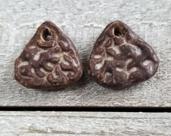 1 pair small ceramic earring charms or drops - earring charms - earring drops - ceramic earring charms - ceramic earring drops {785]