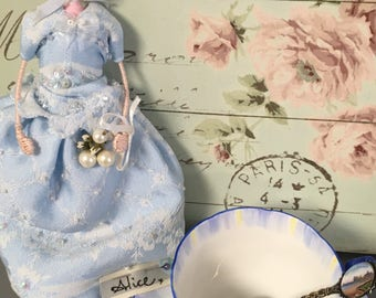 Hand Made , Unique, Doll, Vintage Textiles