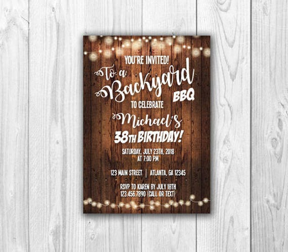 backyard bbq invitations print at home