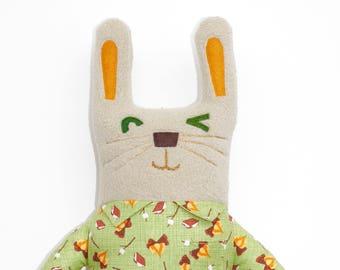 Peluche lapin Perry, lapin, à colorier, lovie, peluche, animal mignon, peluche, poupée d'art ooak, lapin