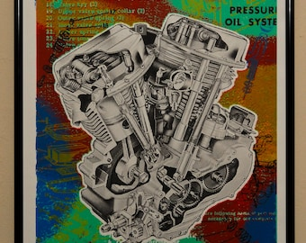 Panhead Motor Print